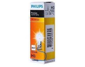 H3 (55) PK22s+30% PREMIUM 12V PHILIPS /10/100 HIT Автолампа